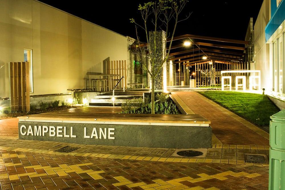 Campbell Lane at night